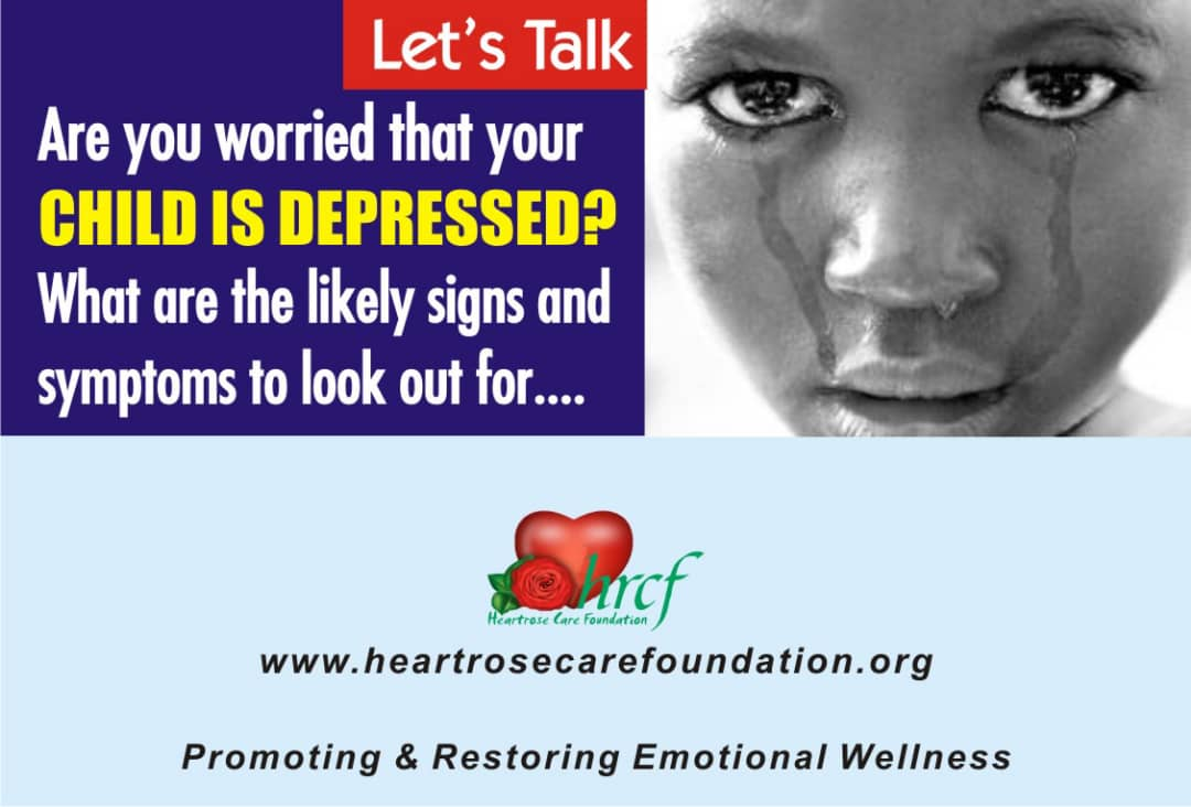 WORRIED THAT YOUR CHILD IS DEPRESSED?