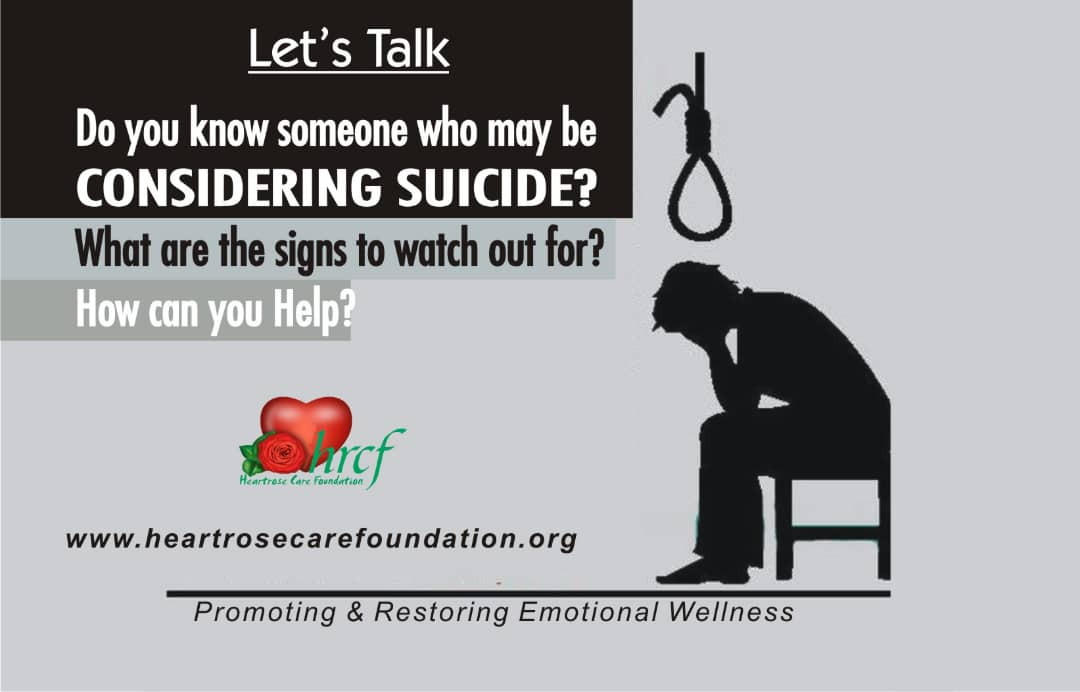 DO YOU KNOW SOMEONE WHO MAY BE CONSIDERING SUICIDE?